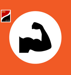 Hand biceps icon vector