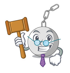 judge wrecking ball attached character on hitting vector image