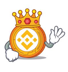 King binance coin mascot catoon vector