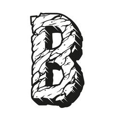 Letter b desert vintage design template vector
