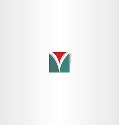 letter v abstract square logo sign vector image