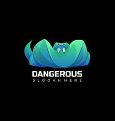 Logo dangerous gradient colorful style vector