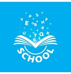 Logo from the book flying letters vector