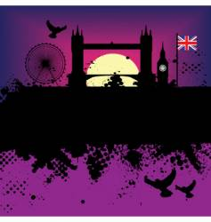 london landscape vector image