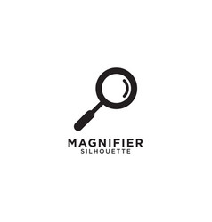 magnifier graphic design template vector image