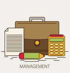 Management flat design concept vector