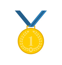medal icon in flat style vector image
