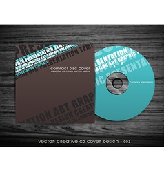 Modern cd cover design vector
