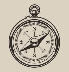 monochrome compass vector image