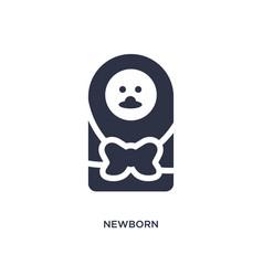 Newborn icon on white background simple element vector