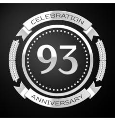 Ninety three years anniversary celebration with vector