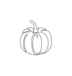 one continuous line drawing whole round vector image
