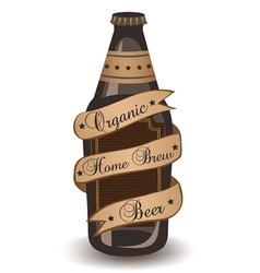 Organic Home Brew Beer vector image