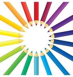 pencil round vector image