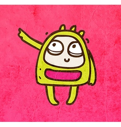 Pointing Alien Cartoon vector image