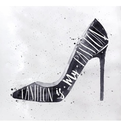 Poster high hill footwear vector image