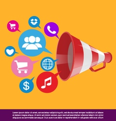 public relations background vector image