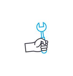 repair work thin line stroke icon repair vector image