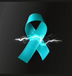 Ribbon with lightning neurological diseases vector