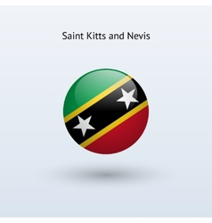 Saint Kitts and Nevis round flag vector