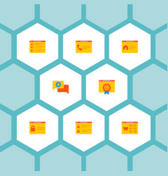 set of website icons flat style symbols with team vector image