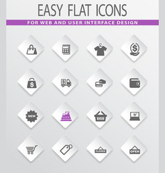 Shop icons set vector