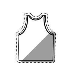 sleeveless male shirt vector image
