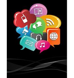 Social media bubble speech background vector image