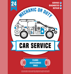 spare parts car poster vector image