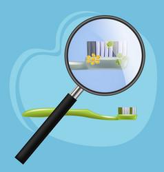 Toothbrush harmful microorganisms bacteria vector