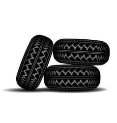 Truck Tire track set vector