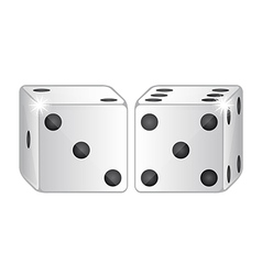 Two dices isolated over white background vector