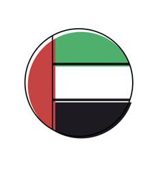 United arab emirates round icon flag vector