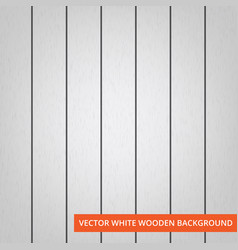 White wood planks as texture and background vector