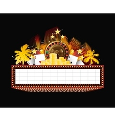 Brightly theater glowing retro casino neon sign vector image vector image