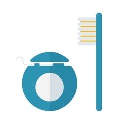 Dental care symbols vector image vector image