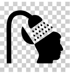 open mind shower icon vector image