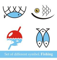 set of symbols Fishing vector image vector image