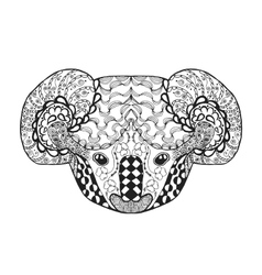 Zentangle stylized koala head Sketch for tattoo vector image vector image