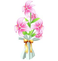 A boquet of fresh flowers vector