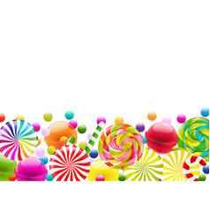 Candy border vector