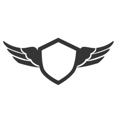 emblem wings silhouette isolated vector image vector image