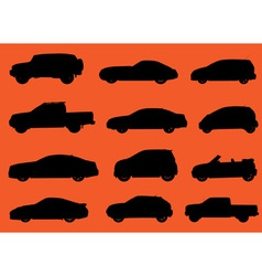 Cars silhouettes part 2 vector image