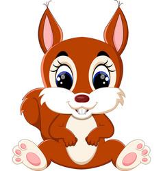 cartoon adorable squirrel vector image vector image