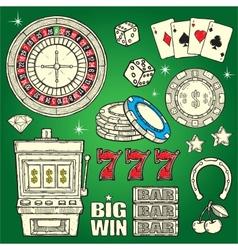 Casino Set vector image vector image