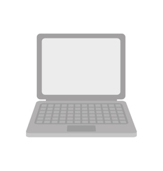 gray laptop device gadget technology vector image