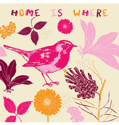 Home Bird Background Pattern vector image vector image