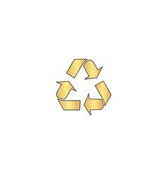 Recycling computer symbol vector image