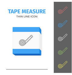 simple line stroked tape measure icon vector image