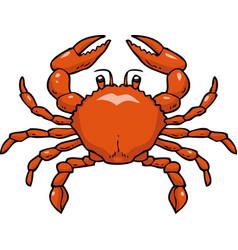 cartoon doodle crab vector image